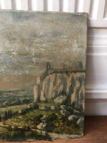 Peinture huile XIX ieme
