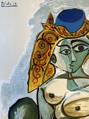 Affiche originale Picasso dixième biennale internationale d'art, menton 1974