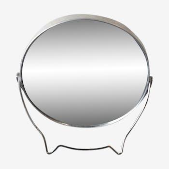 Miroir double face grossissant 50's