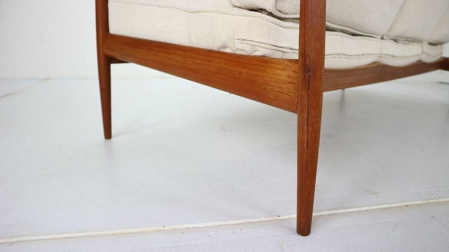 Canapé 3 places en teck par Knoll Antimott de Willhelm Knoll, 1960