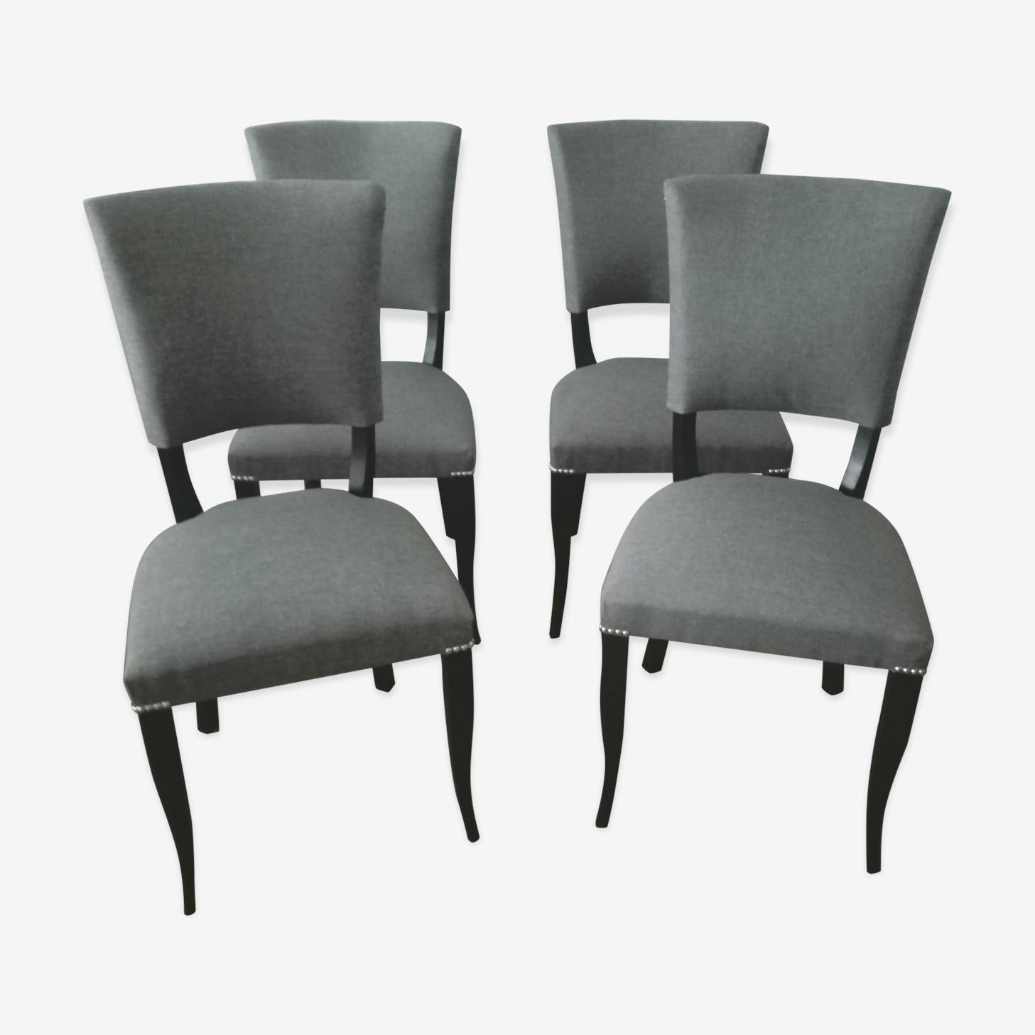 Chairs art deco restored 50 years