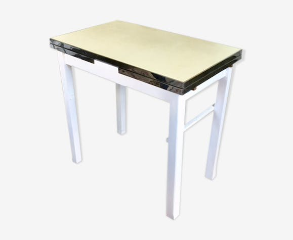 Table in yellow formica, 50s