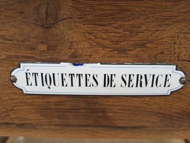 """Bureau de métier de gare ferroviaire avec """"etiquette de service """"années 30"""