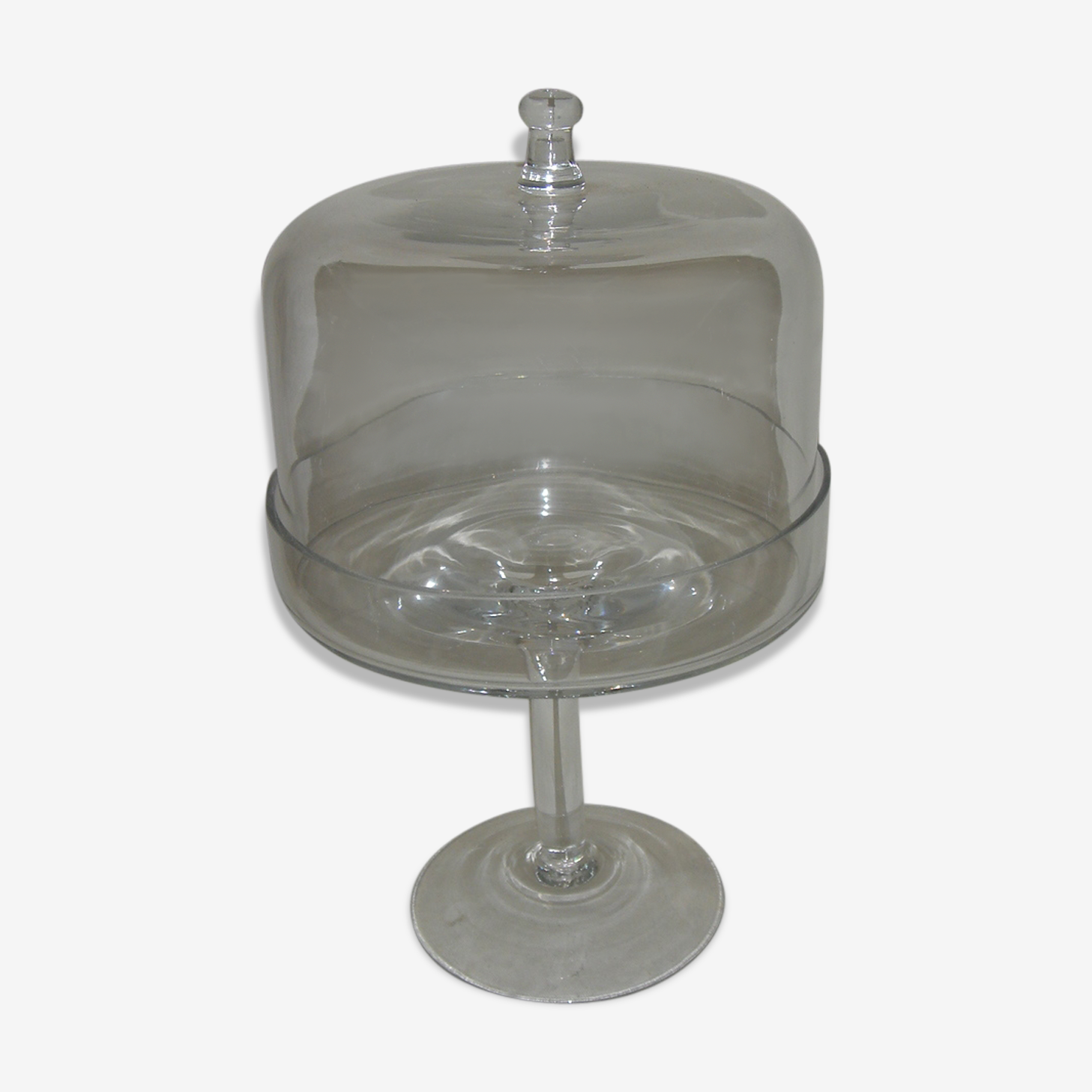 glass Bell with support for cakes, circa 1980