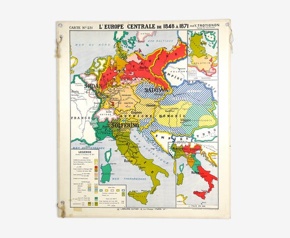 Map geographical in Europe from 1815 to 1856 & Central Europe from ...