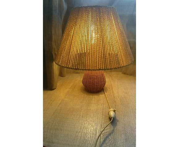 Vintage 50s/60s wicker lamp