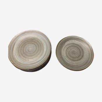 Set of 10 plates sandstone Niderviller