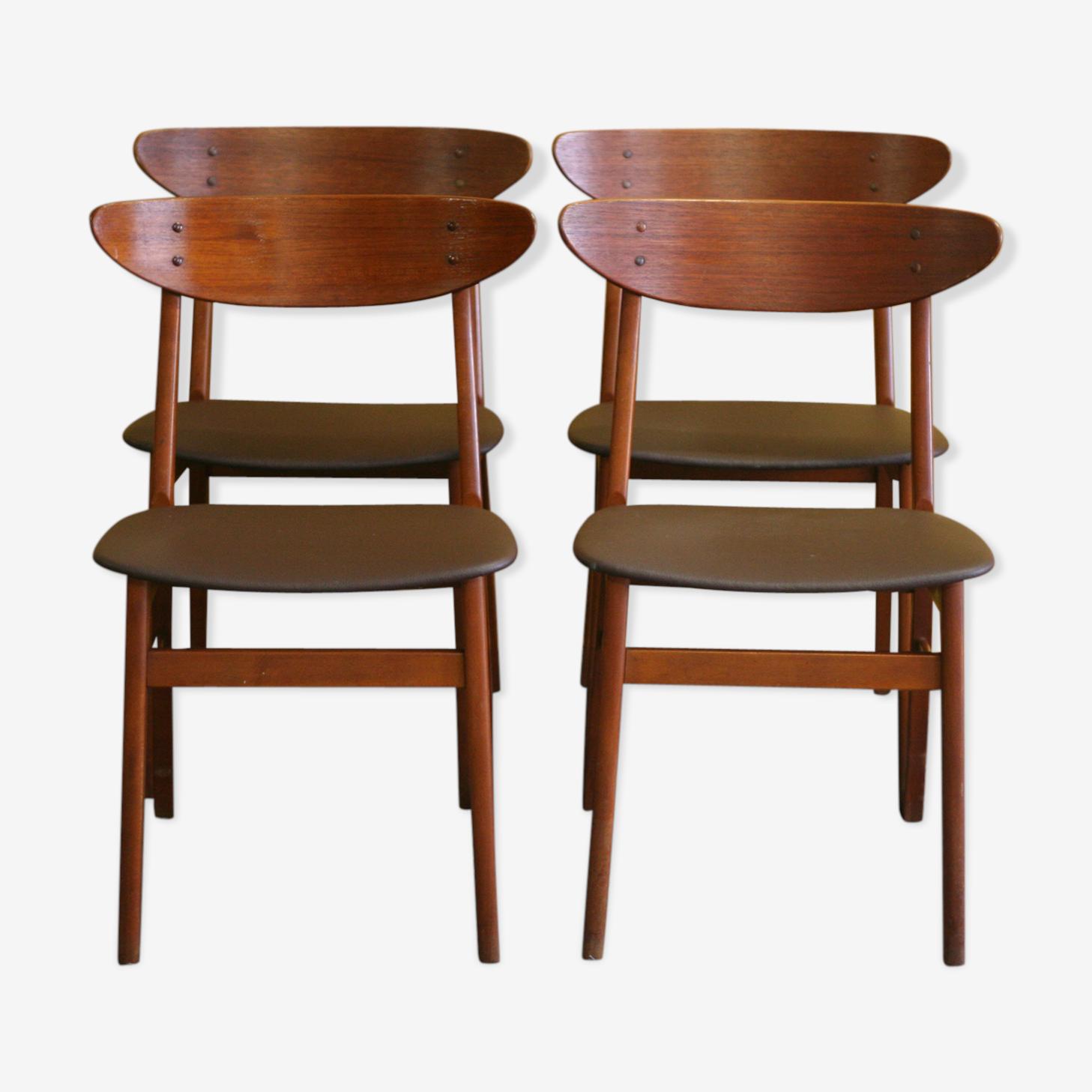 Suite de 4 chaises danoise Farstrup 1960-1965