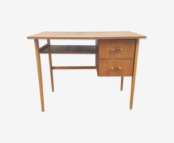 Bureau bois moderniste vintage années 60 bois matériau bois