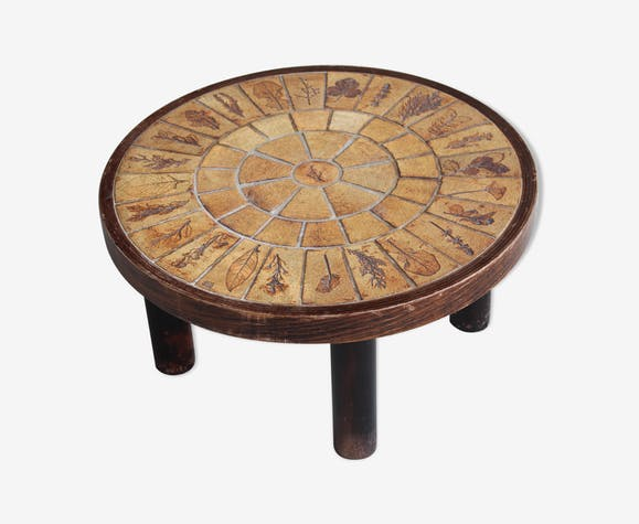 Table Basse Ronde Capron Vallauris Selency