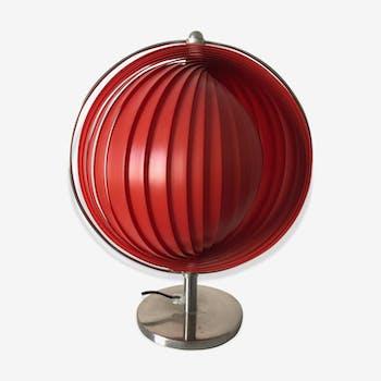 Lampe Kare Moon rouge vintage 1980
