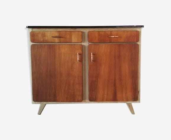 Vintage Buffet Enfilade 2 Doors 2 Drawers Wood Wooden