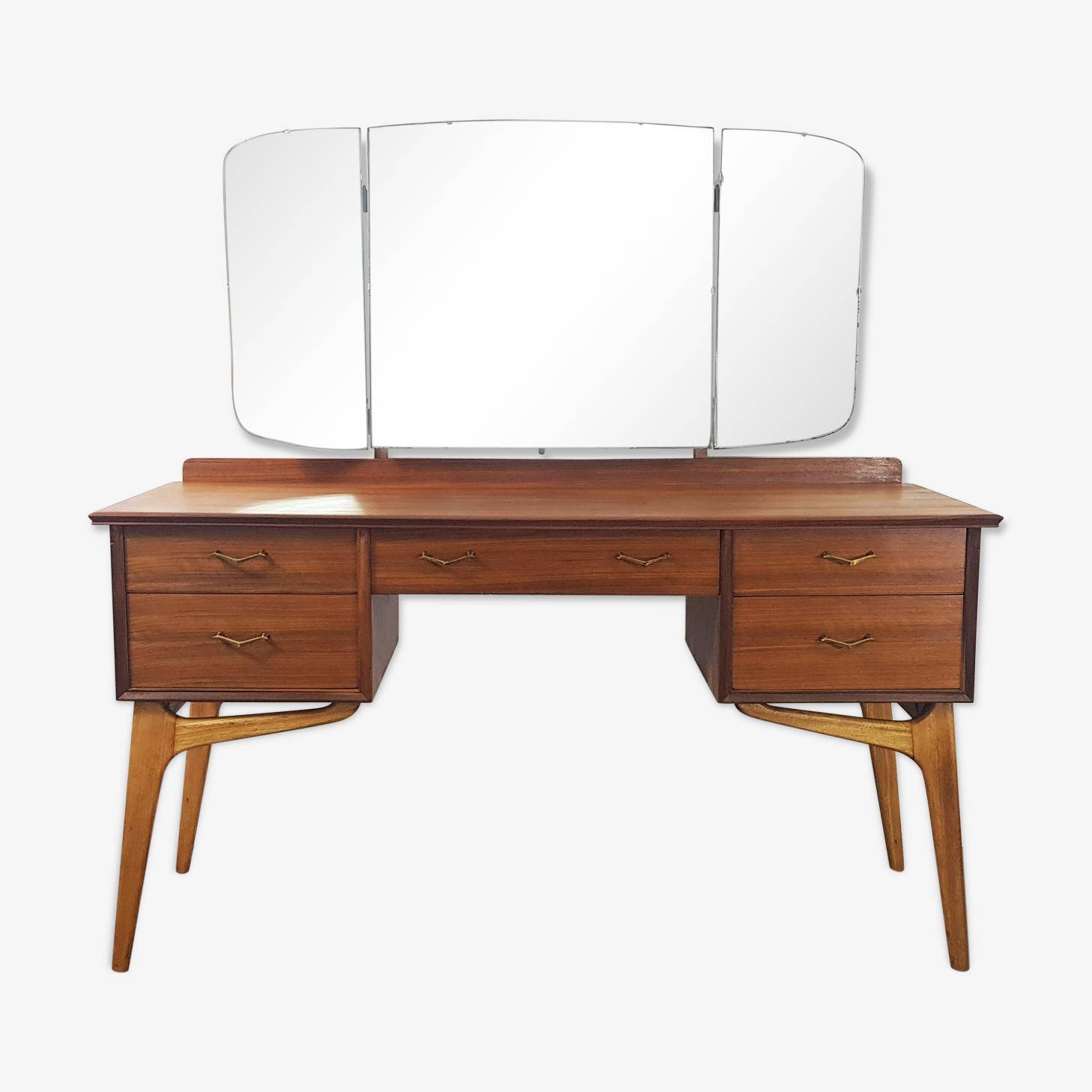 3 Mirror Dressing Table by Alfred Cox for AC Furniture, 1950s