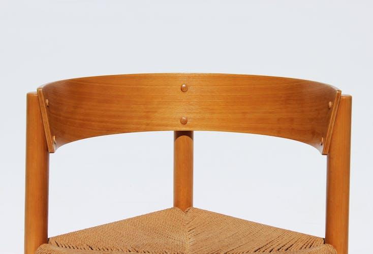 Ensemble de quatre chaises à manger, modèle FH 4216, en hêtre et papier conçu par Mogens Lassen