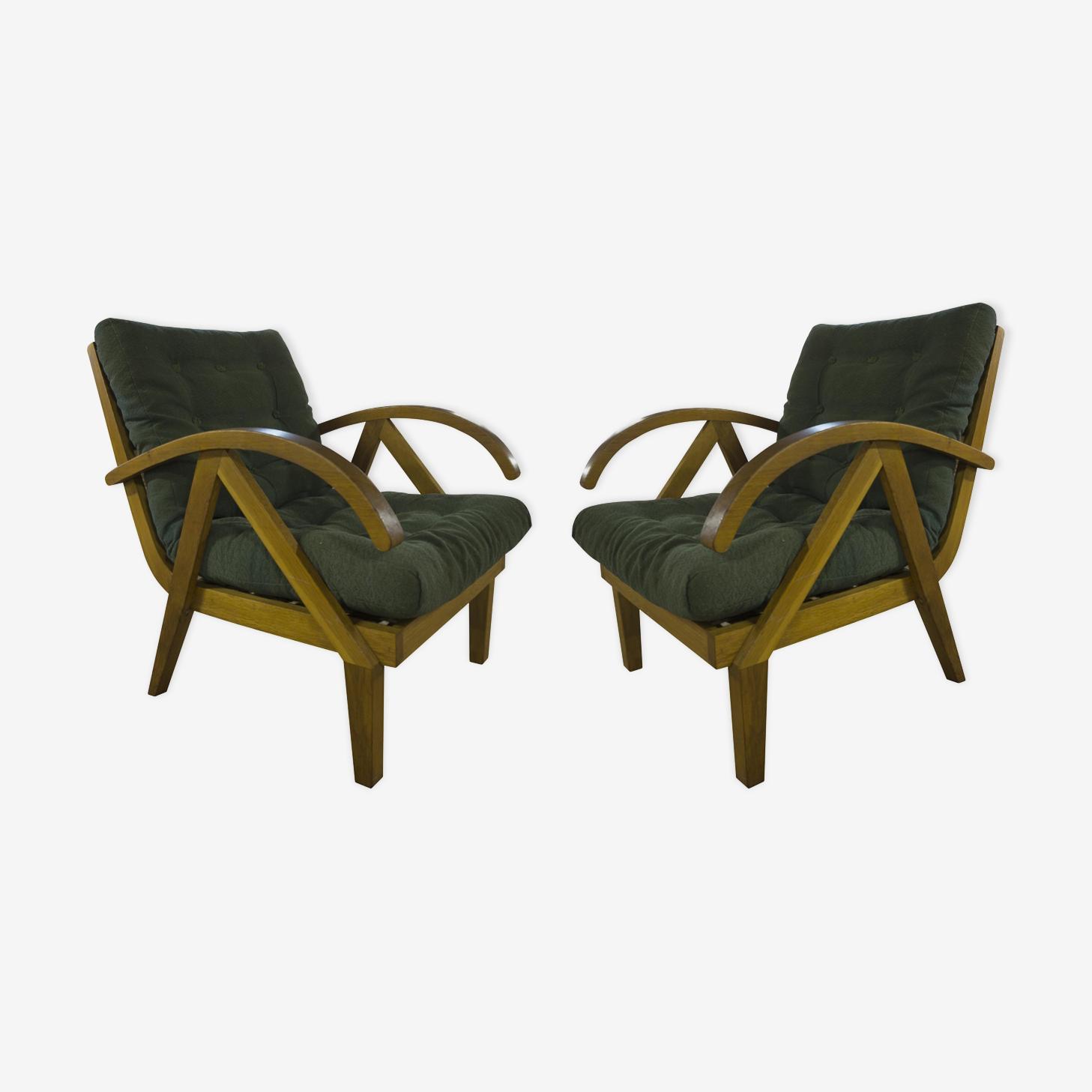 Paire de fauteuils vintage 1960