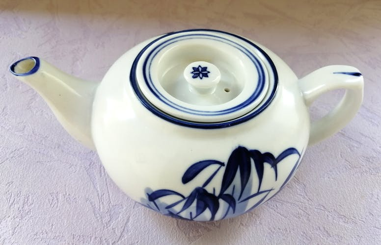 Signed and numbered antique Asian porcelain teapot