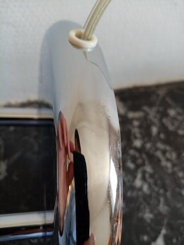 Lampe champignon vintage chromé