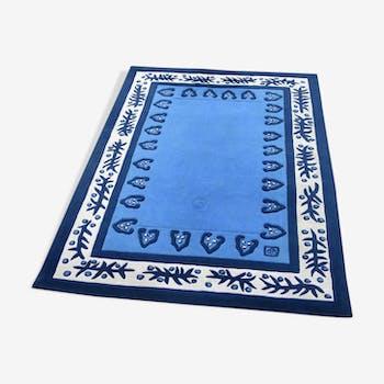 Garouste and Bonetti carpet 'Reverie blue' creation 1991 20th Design, 225x158cm