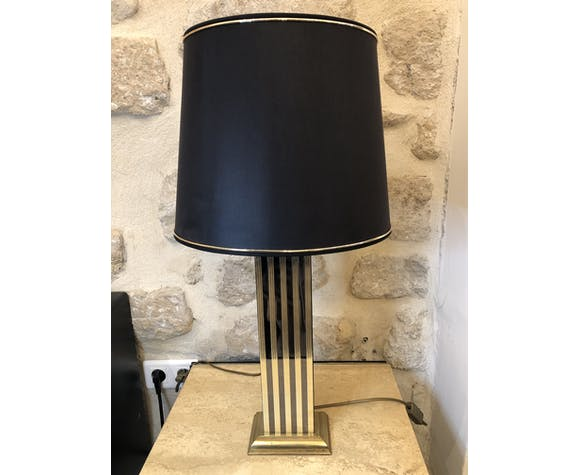Lampe sur pieds rayures
