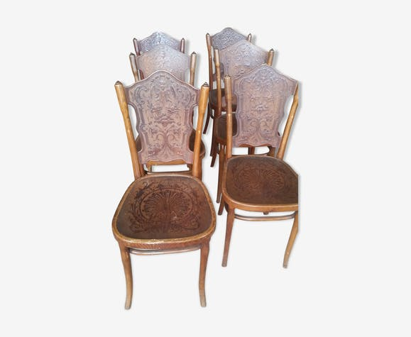 Series of 6 bistro chairs