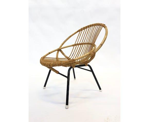 Egg Chair Rotan.Vintage Dirk Van Sliedregt For Rohe Noordwolde Rotan Chair Selency