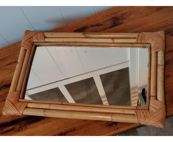 Miroir rotin 35x55cm