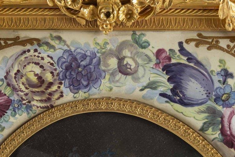 Peinture d'une élégante du XIXème