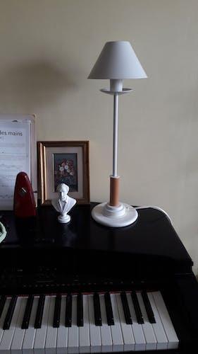 Lampe de table Aluminor métal et bois