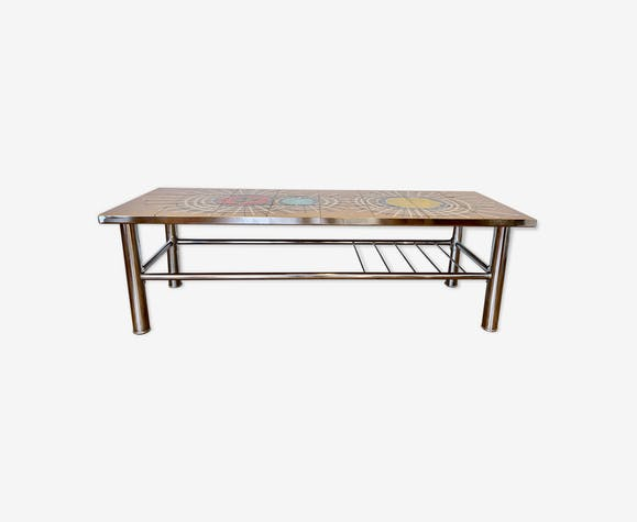 Table basse vintage en mosaïque Juliette Belarti