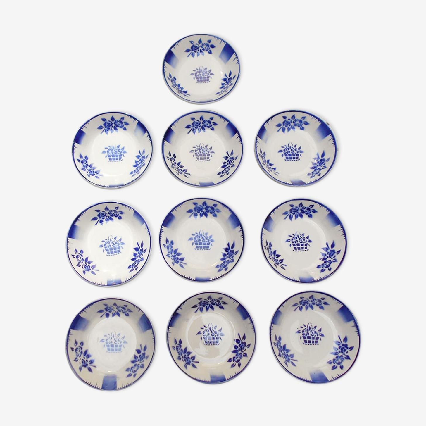 10 assiettes creuses Niderviller collection Paris vers 1930