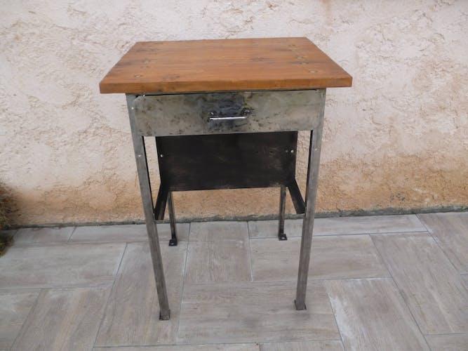 Industrial wood furniture