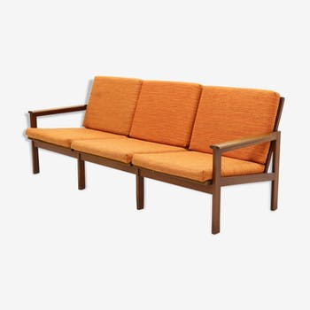 Teak 3Seater Capella Sofa by Illum Wikkelso for N. Eilersen, 1960