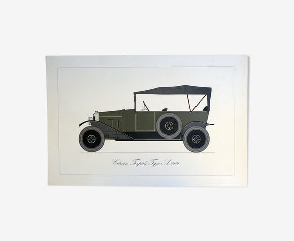Poster representing the car Citroën Torpédo type A 1919