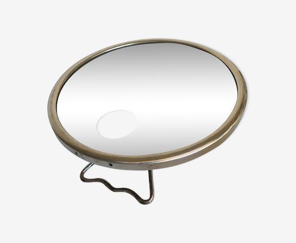 Miroir de barbier art déco chromé signé Brot - verre et ...