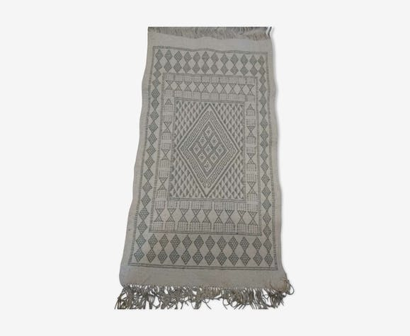 Tapis kilim berbère blanc 60x106cm