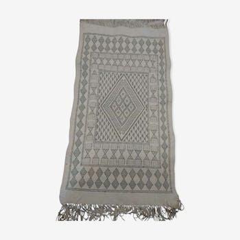 White Berber kilim rug 60x106cm