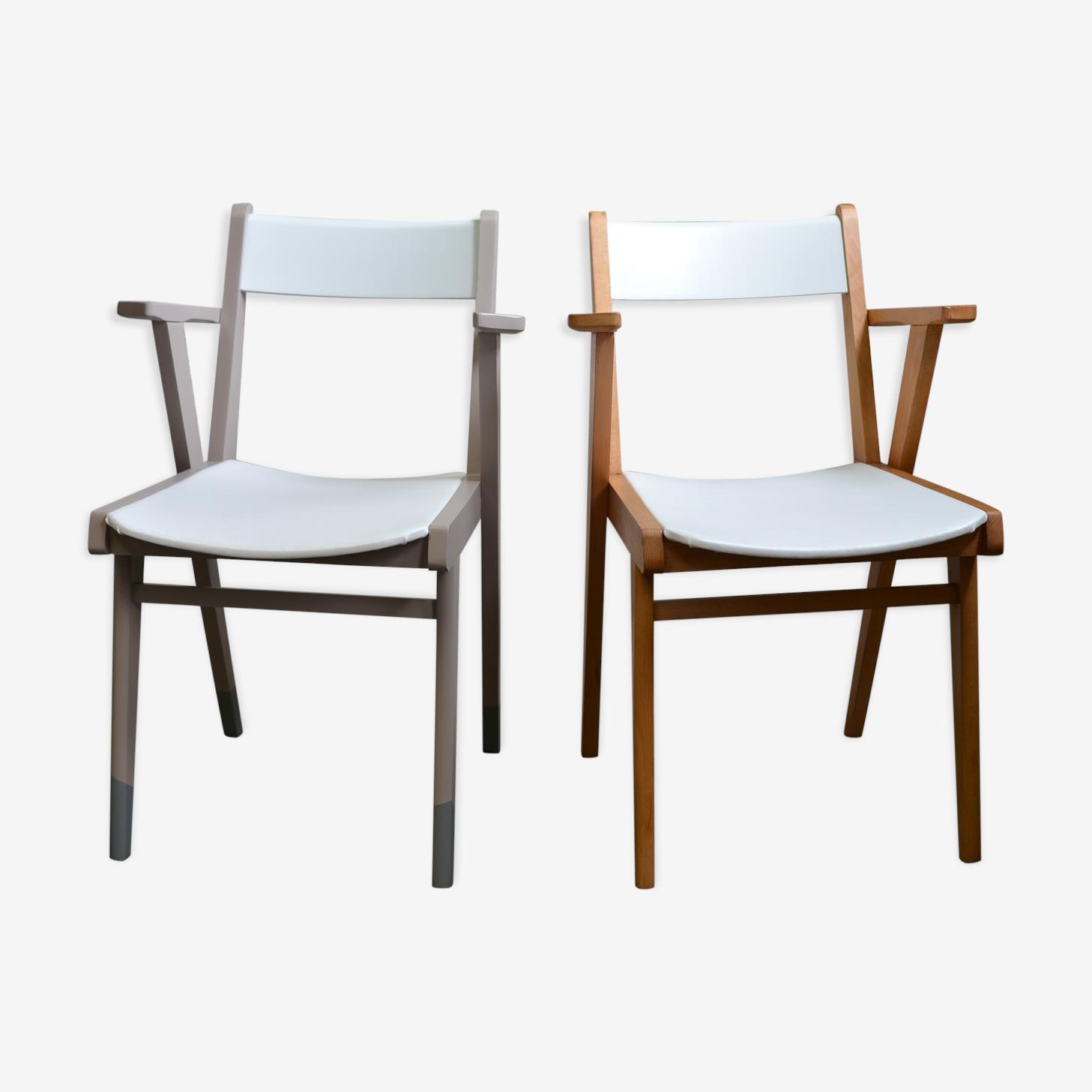 Pair of armchairs bridge Scandinavian years 50/60