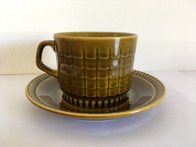 Service à café en céramique Boch Frères vintage années 50