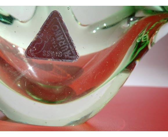 Coupe corbeille vide-poches en verre Murano années 60