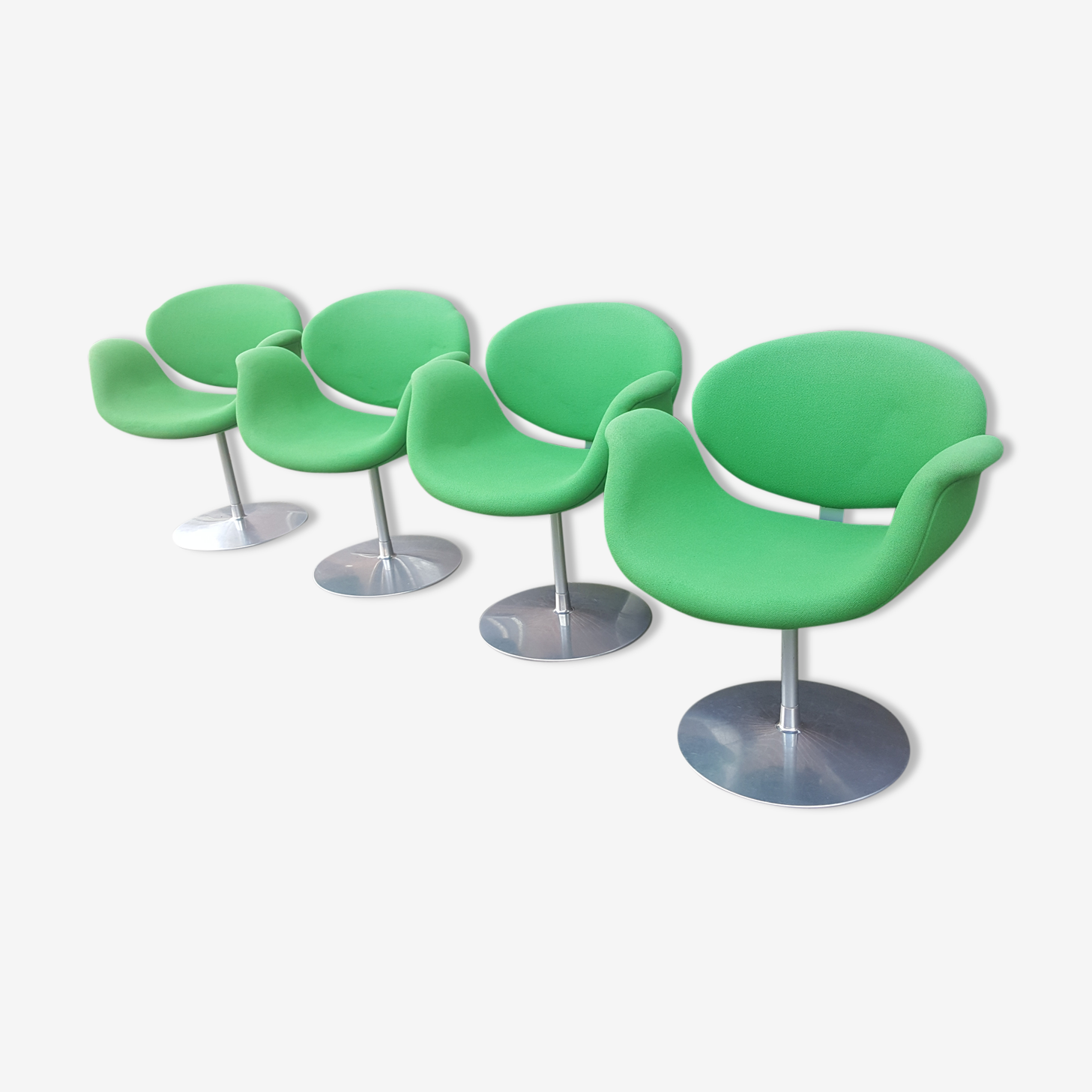 Lot of 4 Pierre Paulin Tulip Chair