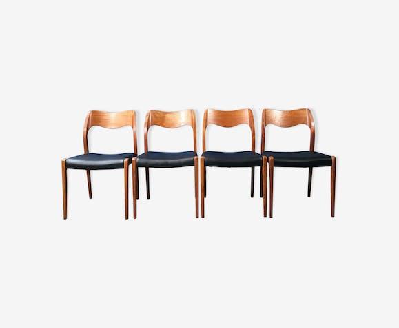 Série de 4 chaises par Niels o. Moller