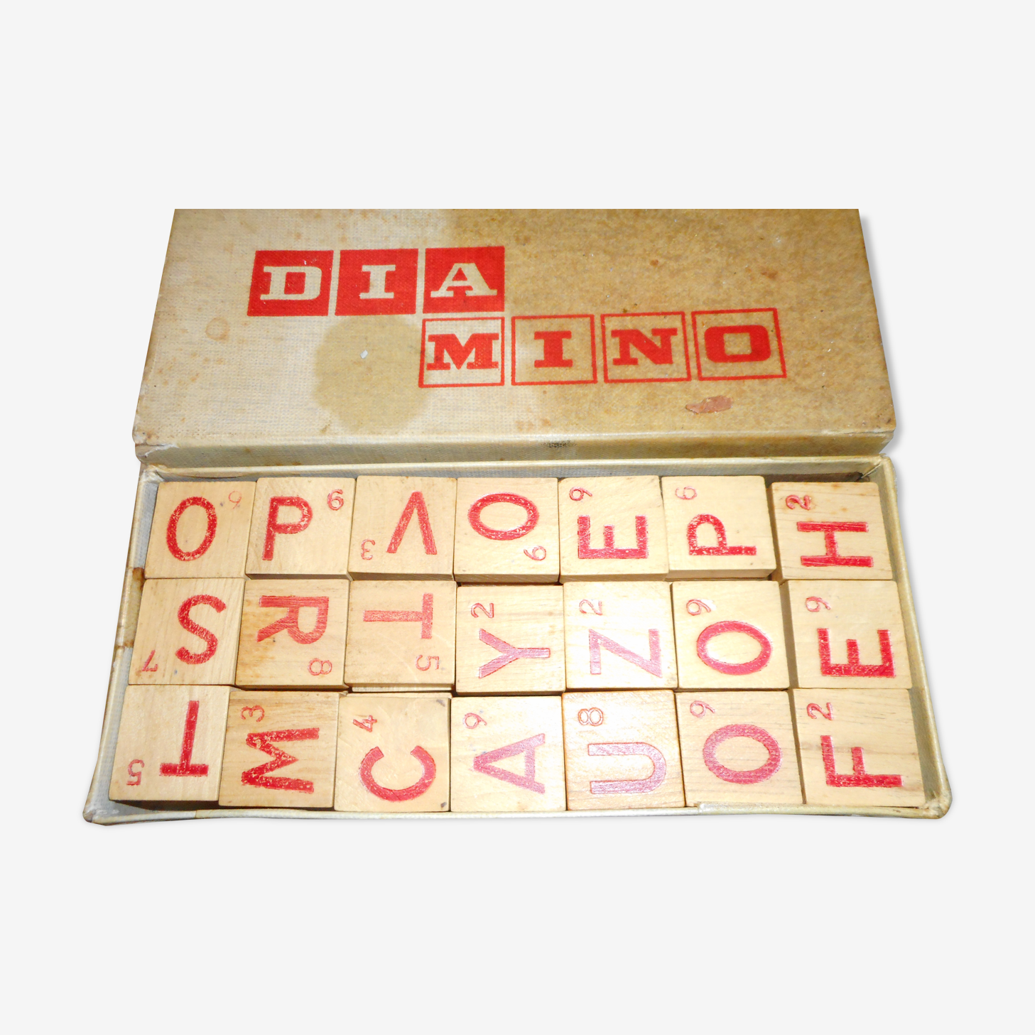 Diamino in his cardboard box