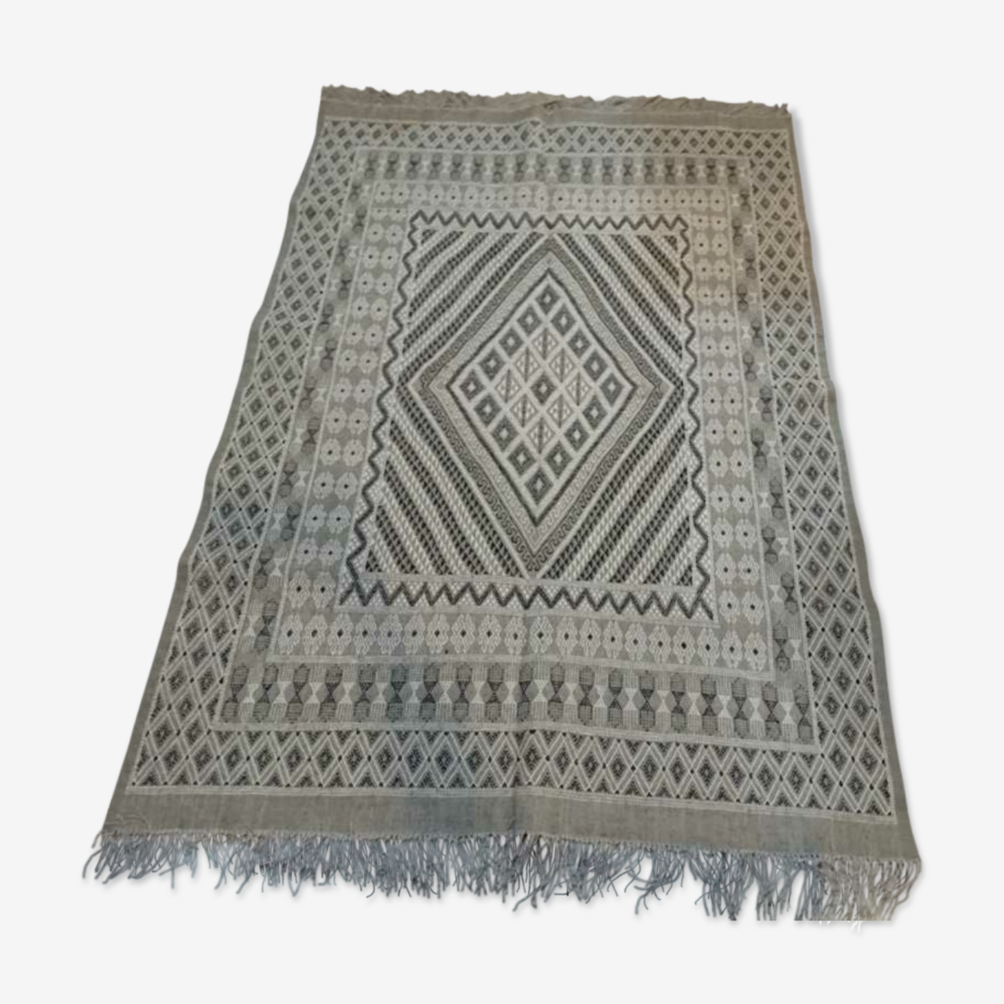 Carpet gray margoum handmade 240x170cm