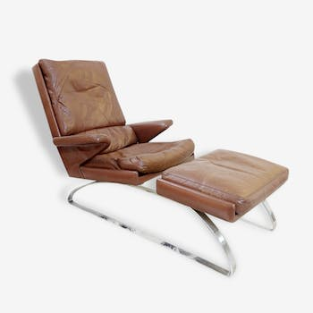 """Swing"" Lounge Chair + Ottoman, R. Adolf & H. J. Schropfer"