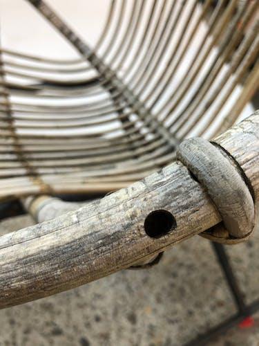 Fauteuil à bascule en rotin Dirk van Sliedregt Rohe Noordwolde