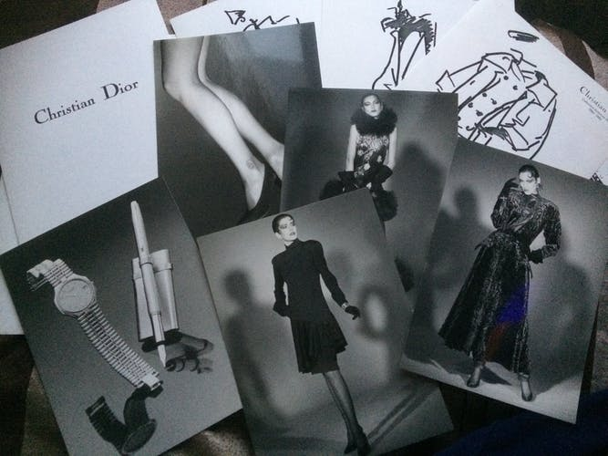 Christian dior: nice illustration of fine press mode of the 1980s