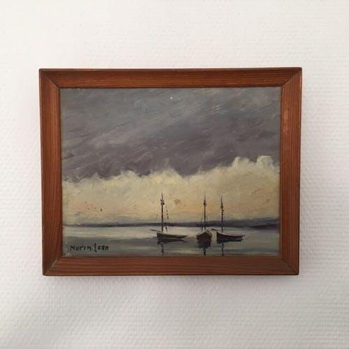Peinture Marine encadrée et signée