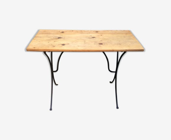 Old bistro table wood tray n ° 2
