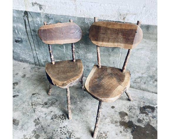 Duo chaises brutalistes