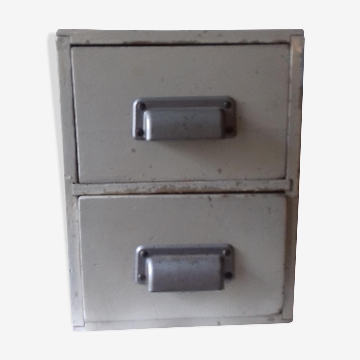 Meuble atelier de metier deux tiroirs
